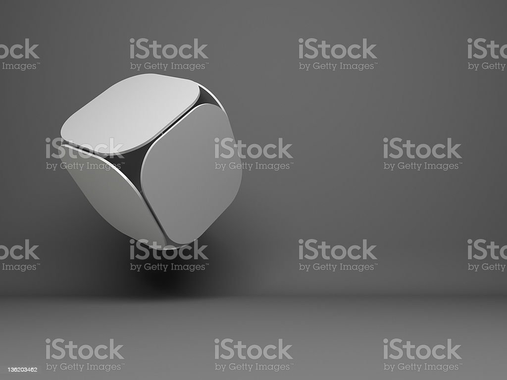 abstract flying 3d cube design background royalty-free stock photo