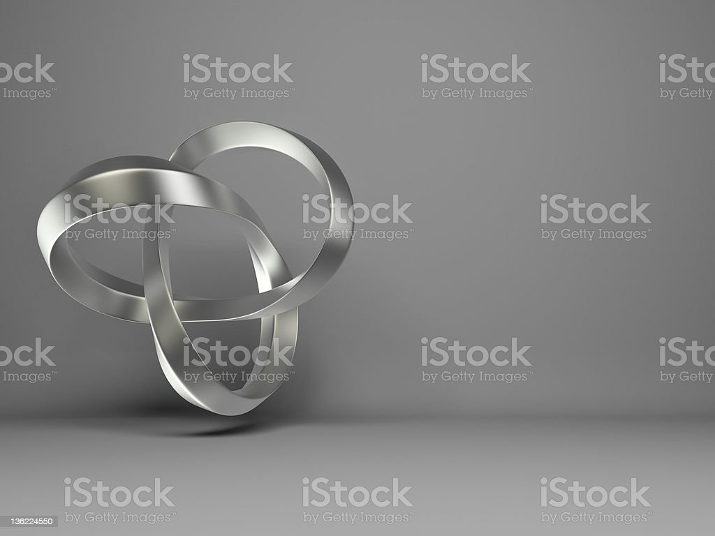 abstract flying 3d Infinity Shape royalty-free stock photo