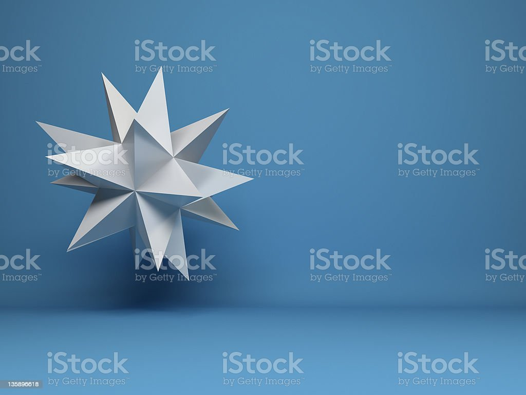 abstract flying 3d star design background stock photo