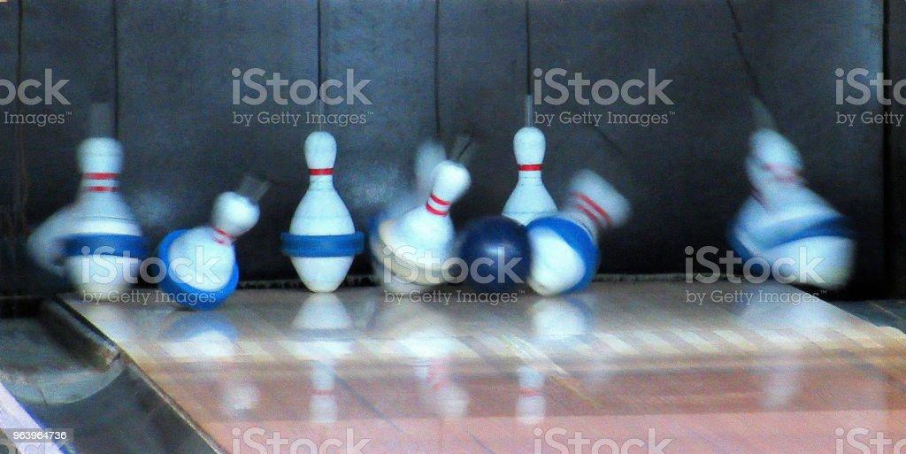 "Abstract, ""Flying Bowling Pins"" - Royalty-free Abstract Stock Photo"