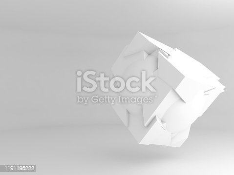 951228698 istock photo Abstract flying object 3 d 1191195222