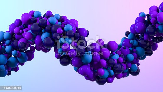 3d rendering of abstract flying spheres background.