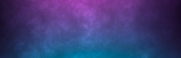 Abstract foggy horizonta background. Neon colors pink and blue light smoke Abstract foggy horizonta background. Neon colors pink and blue light smoke atmospheric mood stock pictures, royalty-free photos & images