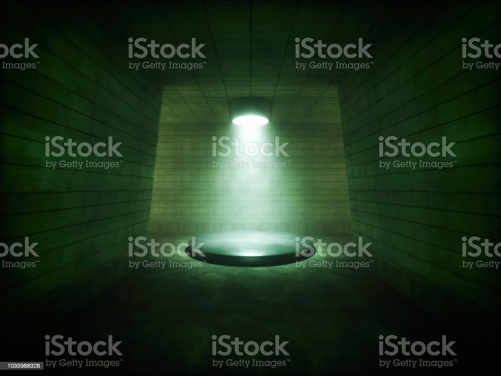 Abstract Foggy Stage stock photo