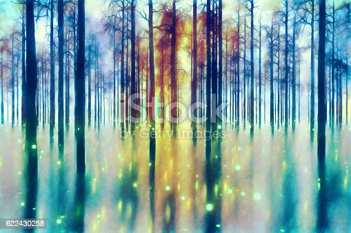 istock Abstract forest 622430258