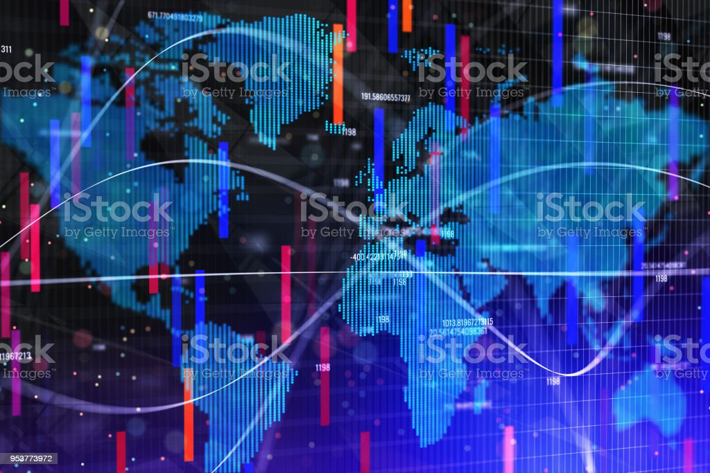 Abstract forex wallpaper stock photo