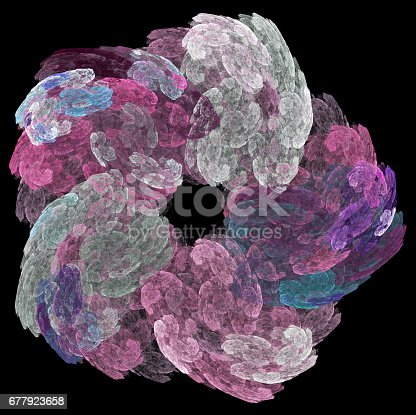 Computer rendered abstract fractal background for creative design
