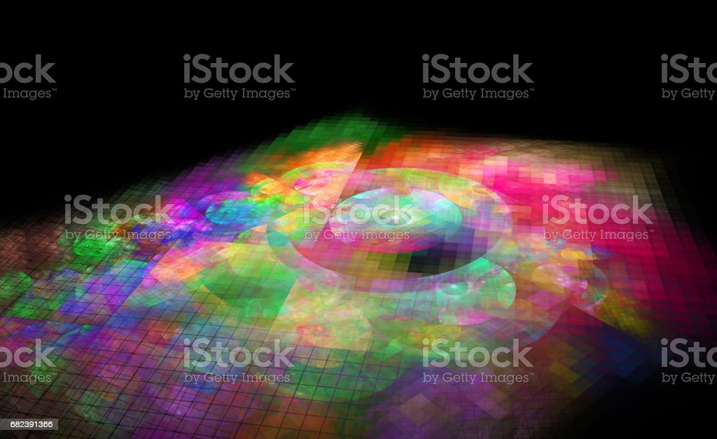 abstract fractal background for creative design foto stock royalty-free