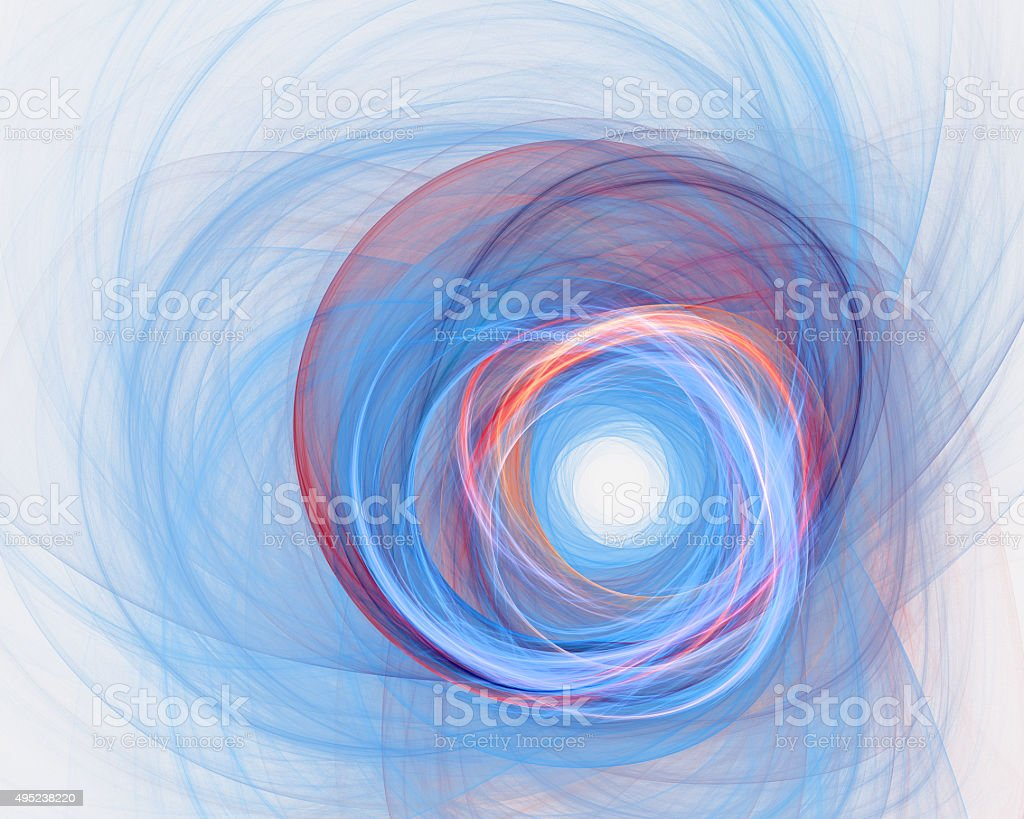 Abstract fractal design. Multiple pencil lines on white. stock photo