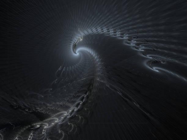 Abstracto fractal águila o Buitre o pájaro. Ilustración fractal de un águila calva. Brillantes alas al pájaro fantástico. Gráficos de arte fractal. - foto de stock