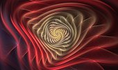 istock Abstract fractal. Fractal art background for creative design. Decoration for wallpaper desktop, poster, cover booklet, card. Psychedelic. Print for clothes, t-shirt. 1049460942