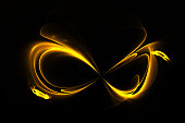 istock Abstract fractal golden mask on a black background. Computer generated image. 1077221470