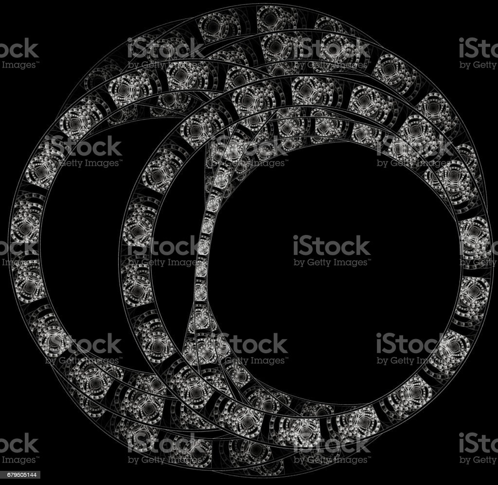 Abstract fractal illustration for creative design royalty-free stock photo