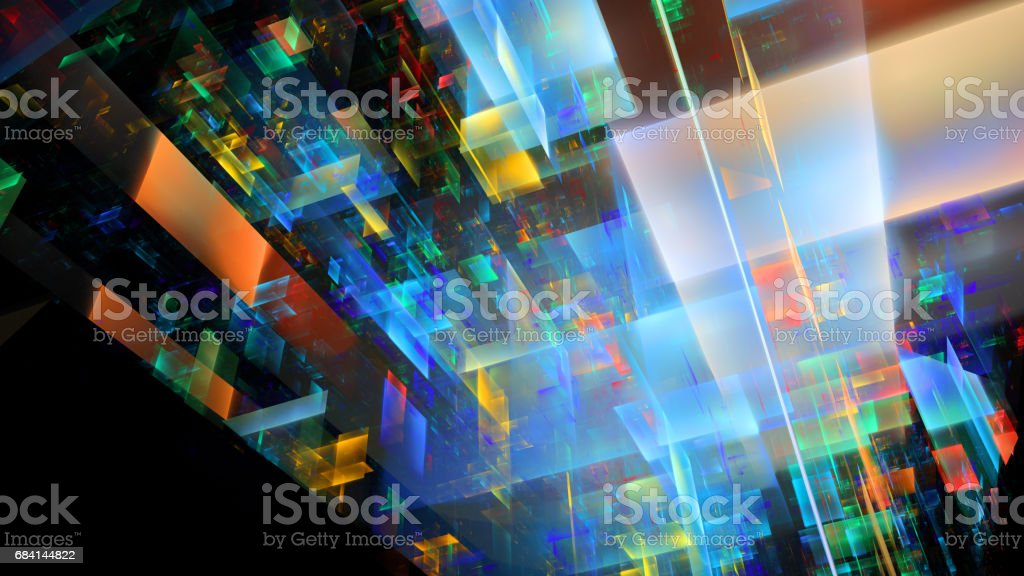 Abstract fractal illustration for creative design foto stock royalty-free