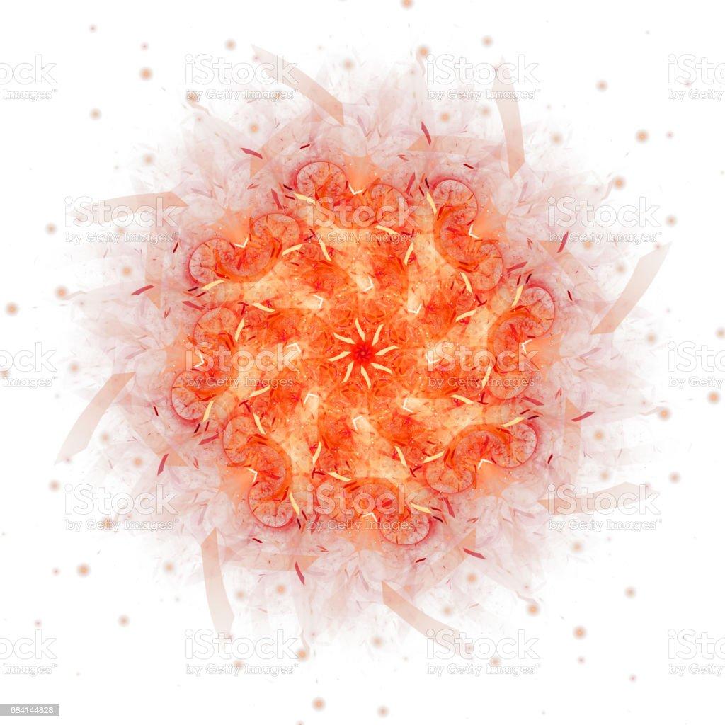 Abstract fractal illustration for creative design royaltyfri bildbanksbilder