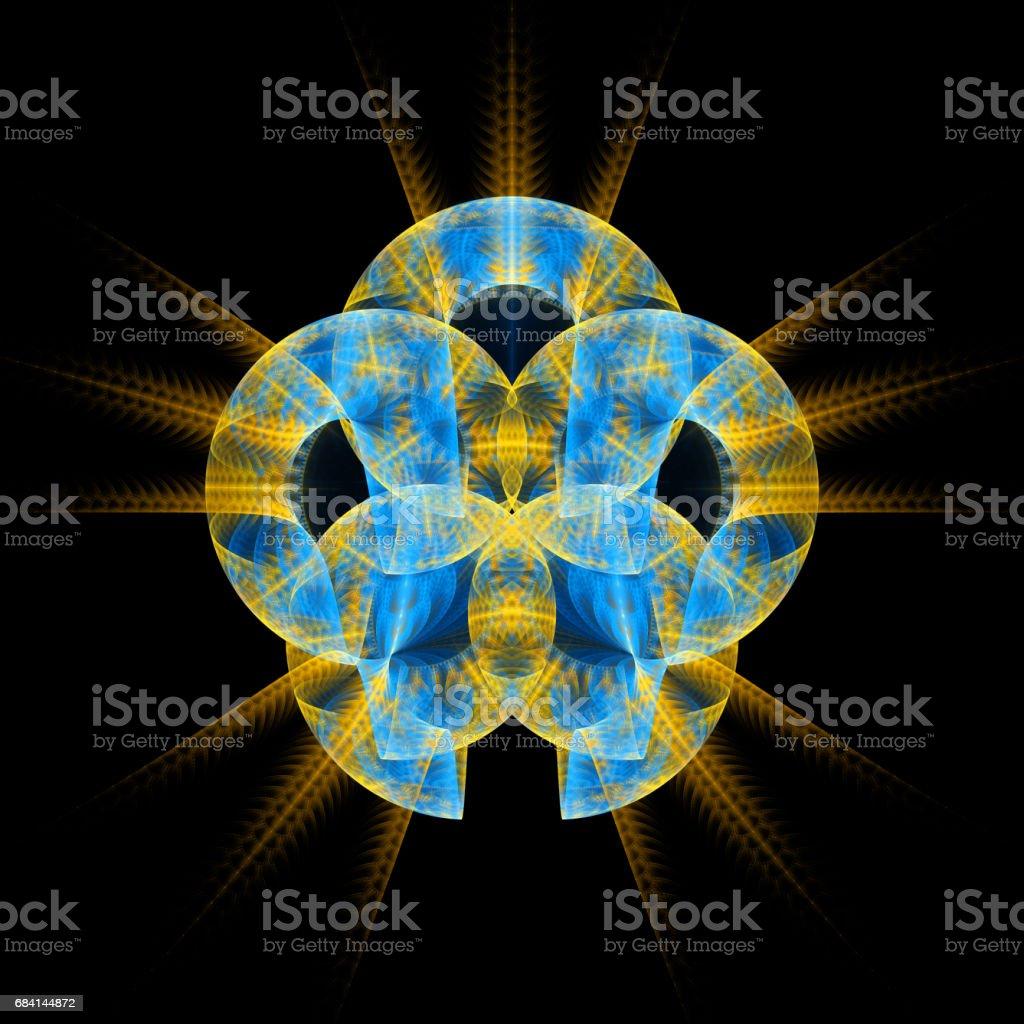 Abstrakta fractal illustration för kreativ design royaltyfri bildbanksbilder