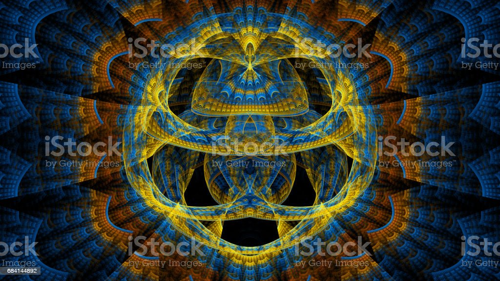 Abstract fractal illustration for creative design royalty free stockfoto