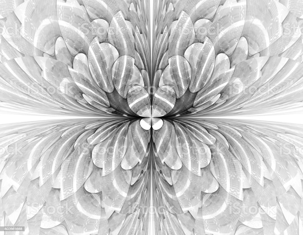 Abstract fractal illustration for creative design stock photo