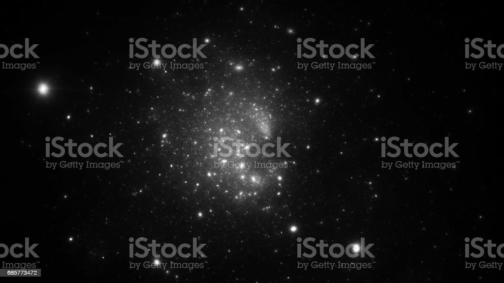 Abstract fractal illustration looks like galaxies royalty-free stock photo