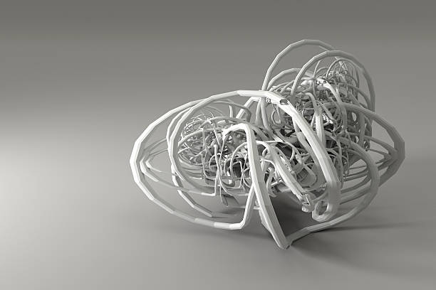 Abstract fractal solid. stock photo