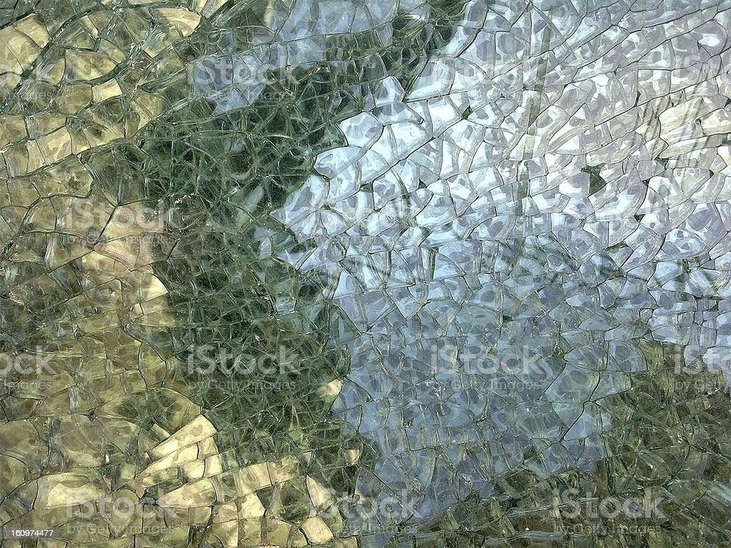 Abstract fractured glass mosaic stock photo