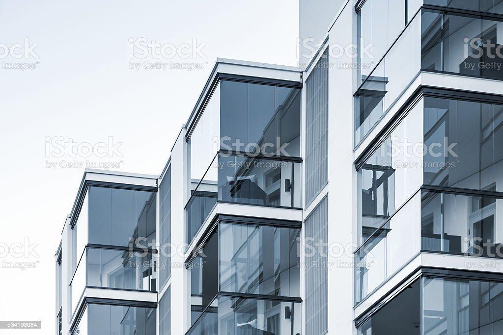 Abstrakte führen zu einer Fragmentierung, moderne Architektur – Foto