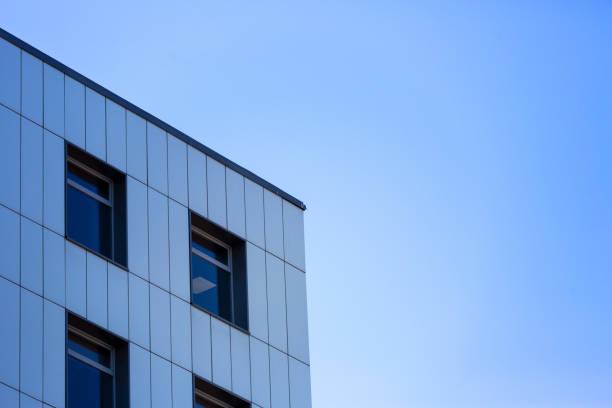 abstrait fragmentent de l'architecture moderne - partie supérieure photos et images de collection