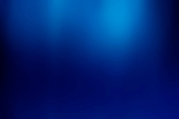 Abstract fresh soft bokeh blue defocused gradient background stock photo