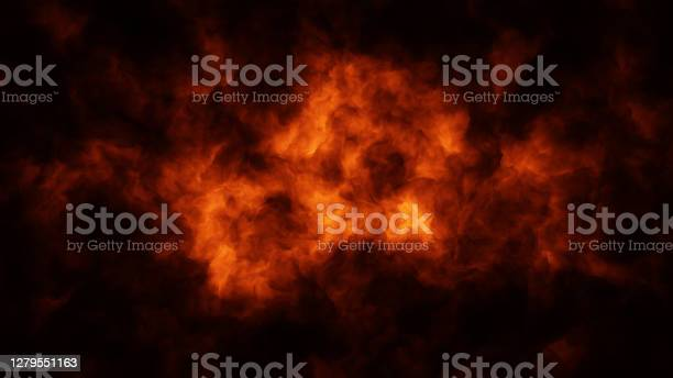 Photo of Abstract Full Frame Fire Cloud Background
