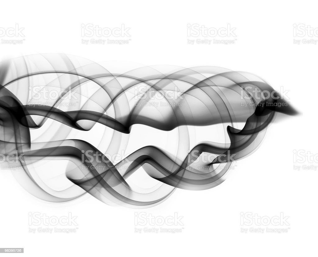 Abstract fume shape on the white royalty-free stock photo