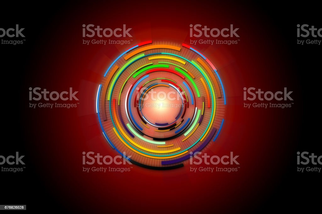 Abstract future digital science technology concept. Hi-tech background design. stock photo