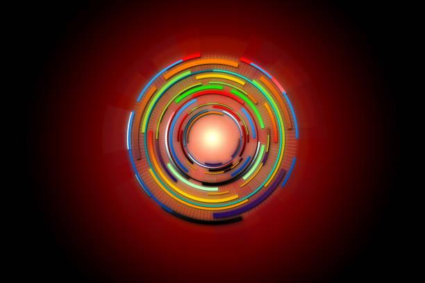 abstract future digital science technology concept. hi-tech background design. - vr red background imagens e fotografias de stock
