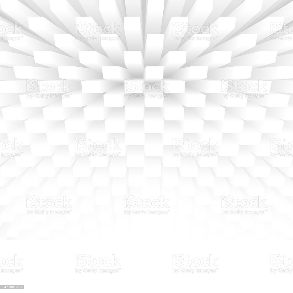 Abstract Futuristic 3d Background With White Copyspace