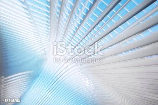 istock Abstract Futuristic Architecture 487148250