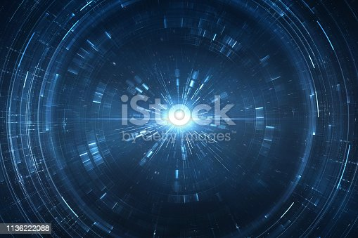 istock Abstract futuristic background 1136222088