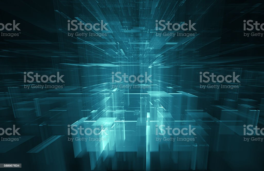 Abstract Futuristic Background stock photo