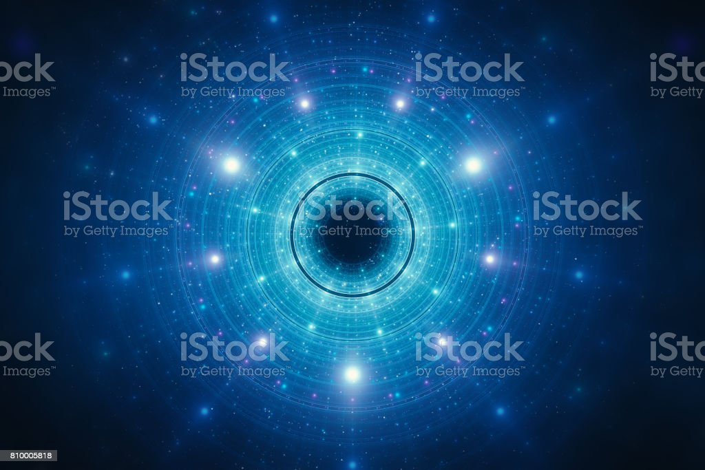 Abstract futuristic circular background stock photo
