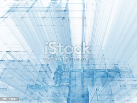 istock Abstract futuristic construction 531983322