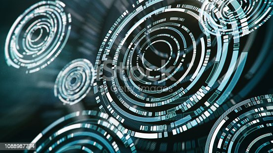 956891284 istock photo Abstract Futuristic Interface 1088987774