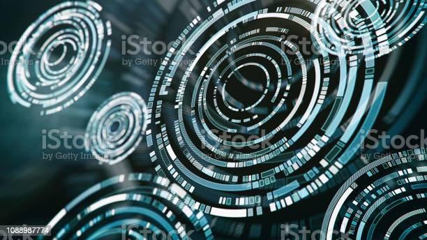 Abstrakte futuristische Schnittstelle - Lizenzfrei Abstrakt Stock-Foto