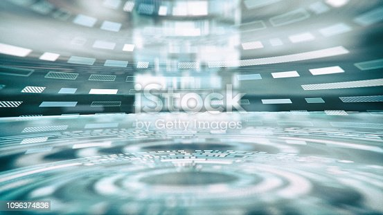 istock Abstract Futuristic Interface 1096374836