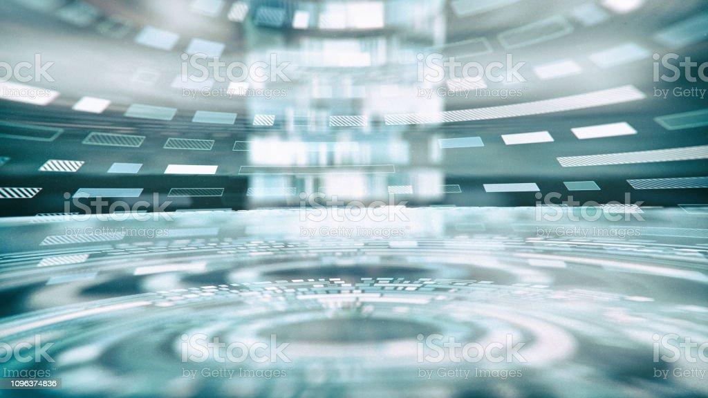 Abstract Futuristic Interface stock photo