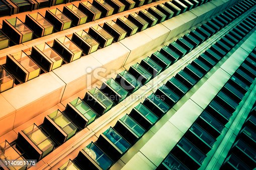 istock Abstract Futuristic Modern Architecture in the City 1140951175