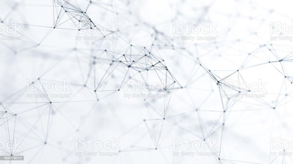 abstrakte futuristische Netzwerk auf Hintergrund illustration – Foto
