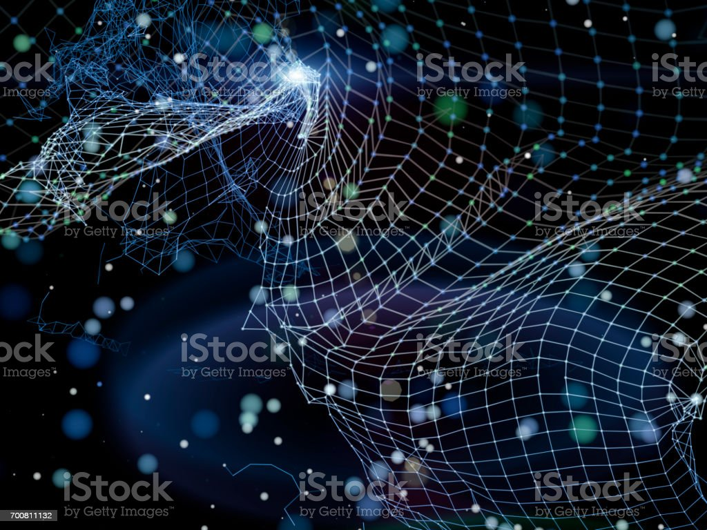 Abstract futuristic network structure stock photo
