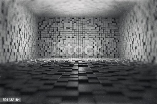 istock Abstract, futuristic room 591432184