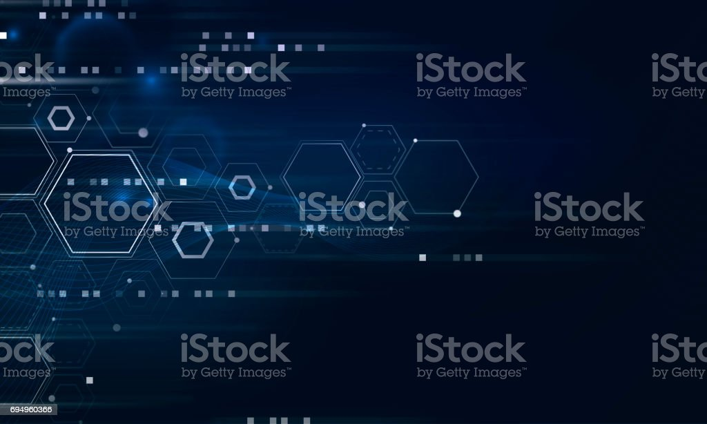 Abstract futuristic shapes. stock photo