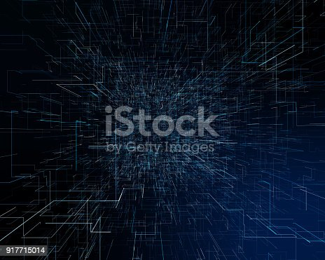 istock Abstract futuristic technological background 917715014