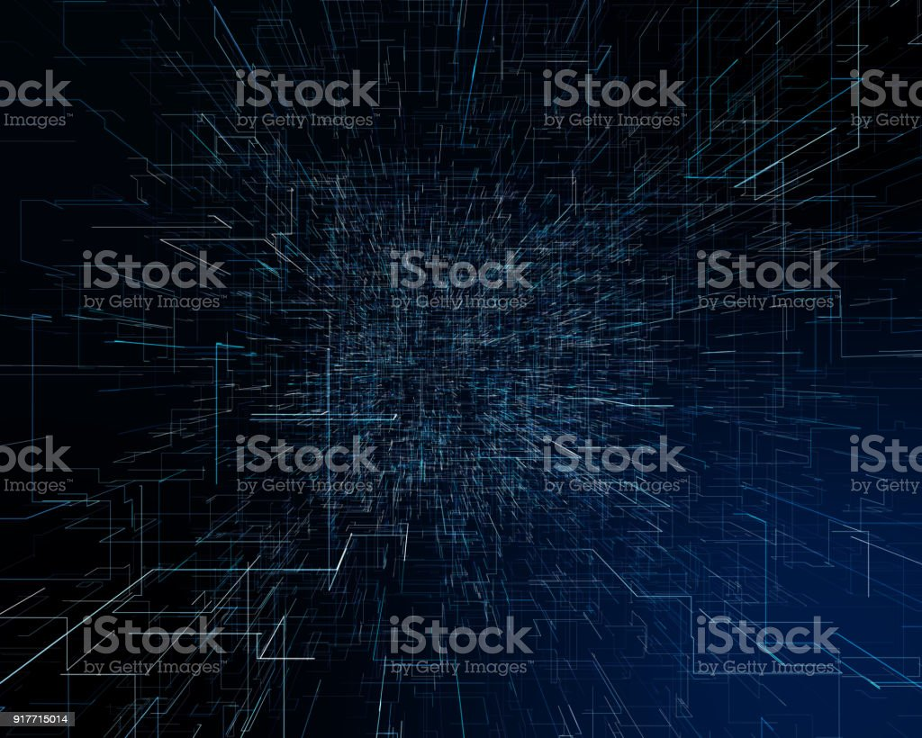Abstract futuristic technological background stock photo