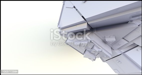istock Abstract Futuristic Technological Background Seamless SciFi Panels 3d render 1003772594